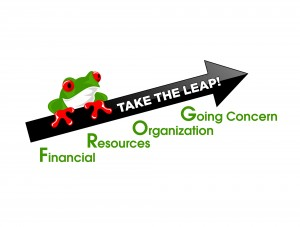 FROG Take the Leap Logo